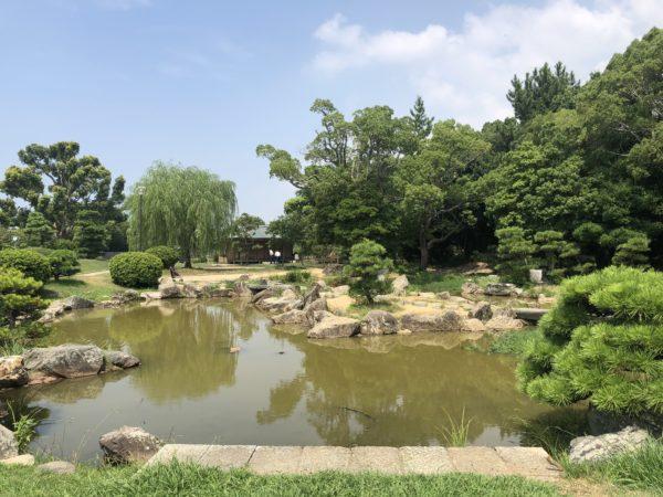 明石城 武蔵の庭園
