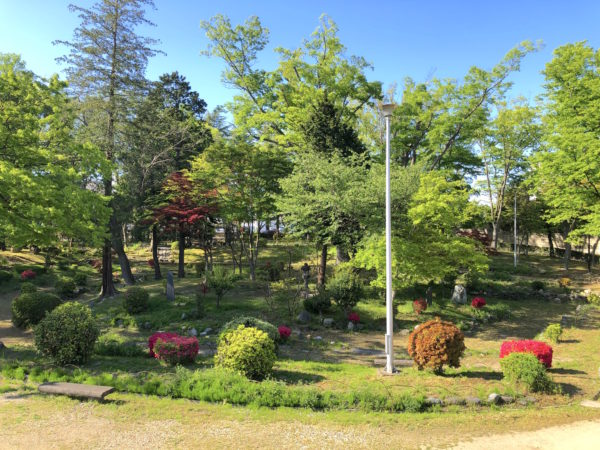 福島城二の丸御外庭(紅葉山公園)