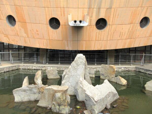 旧香川県立体育館 石庭