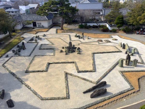 岸和田城庭園 八陣の庭